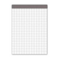 Notizblock A5, 70 g/m2, 4 mm kariert, 100 Blatt