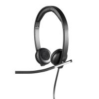 Headset mit Mikrofon Logitech H650E, schwarz
