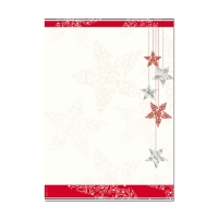 Desingpapier Sigel DP032 Starlets A4, 90 g/m2, Weihnachten, Packung à 25 Stück