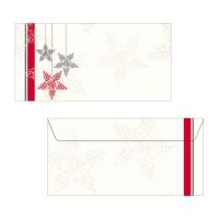 Couvert Sigel DU019 Starlets 220x110 mm, 90 g/m2, Weihnachten, Pk. à 25 Stk.