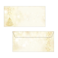 Couvert Sigel DU083 Graceful Christmas 220x110 mm, 90 g/m2, Packung à 50 Stück