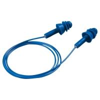 Gehörschutzpfropfen Uvex 2111.213 whisper+detec, 33dB, mit Kordel, blau, 1 Paar