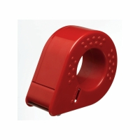 Packband Handabroller Permafix, Kunststoff, für 50 mmx66 m, rot