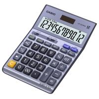 Tischrechner Casio DF-120TER II, 12-stellige Anzeige, metallicblau