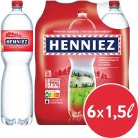 Henniez rot Mineralwasser mit Kohlensäure 1.5 l, Packung à 6 Flaschen
