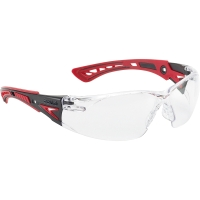 Schutzbrille Bollé RUSH+ RUSHPPSI, Filtertyp 2C, schwarz/rot, Scheibe farblos