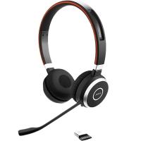 Jabra Evolve 65 UC Duo, Mute-Taste, Lautstärke-Regler, inkl. Ladestation