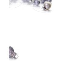 Designpapier ABC DPB334 Weihnachtskugeln A4, 100 g/m2, Packung à 10 Stück