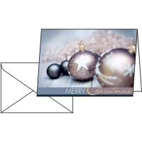 Doppelkarte Sigel DS024 Weihnachten A6, englisch, Packung à 25 Stück