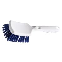 Handbürste mit kurzem Stiel, hart, 260x72x35 mm, blau