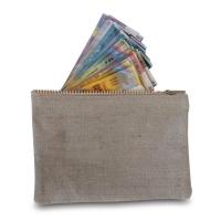 Geldtransport-Beutel Rieffel, mit Reissverschluss