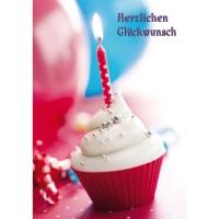 Doppelkarte Naturverlag 326N, Geburtstag, 122x175 mm, deutsch