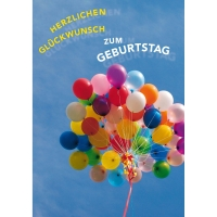 Doppelkarte Naturverlag 300N, Geburtstag, 122x175 mm, deutsch
