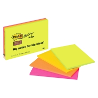 Haftnotizen Post-it Meeting Notes Super Sticky, 149x98,4 mm, Pk.à 4 Stk.