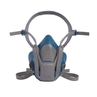 Halbmaskenkörper, 3M 6501, Grösse S, Silikon, grau/blau