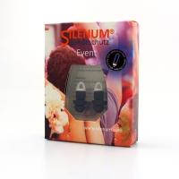Gehörschutzpfropfen Silenum Event, 20dB, schwarz mit Kordl, Paar à 2 Stück