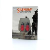 Gehörschutzpfropfen Silenum Work, 20dB, rot mit Kordl, Paar à 2 Stück