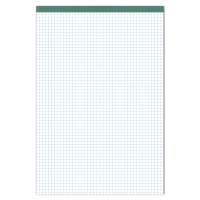 Ursus Green, climate-neutral notepad, A4 + 4 mm, squares, 70 g/m2, 100 sheets