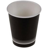 Kaffeebecher nero aus Karton 1,8 dl, schwarz/weiss, Packung à 50 Stück