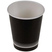 Kaffeebecher nero aus Karton 2 dl, schwarz/weiss, Packung à 50 Stück