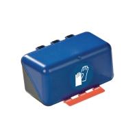 Aufbewahrungsbox für Handschuhe, ABS-Kunststoff, B236xT120xH120 mm, blau