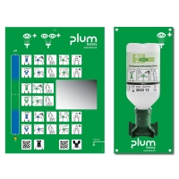 Wandstation mit 1 x 500 ml Augenspülflasche, Plum 4611