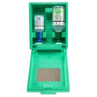 Augen-Notfallstation in Wandbox mit 1x200ml pH Neutral + 1x500ml Augenspüllösung