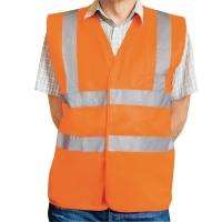 Warnschutzweste Eskon, Klasse 2, Typ EN20471, Grösse XL, orange