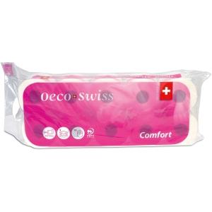 Toilettenpapier Oeco Swiss Comfort TAE, 3-lagig, 8 Rollen à 250 Blatt
