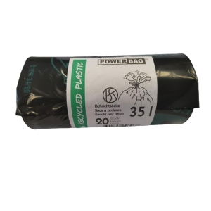 Müllbeutel mit Verschlussband OKS HD/PE TopPac 20306, 35 l, Rolle à 20 Beutel