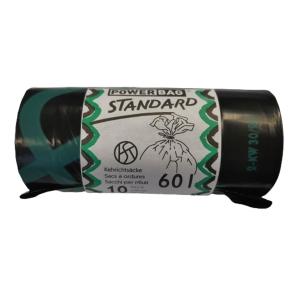 Müllbeutel mit Verschlussband OKS HD/PE TopPac 20307, 60 l, Rolle à 10 Beutel