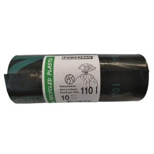 Müllbeutel mit Verschlussband OKS HD/PE TopPac 20308, 110 l, Rolle à 10 Beutel