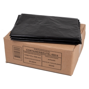Containerbeutel HD/PE LLD/PE TopPac 20346, 800 l, schwarz, Packung à 50 Beutel