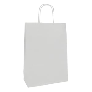 Tragtasche Clairefontaine, 220 x 100 x 290 mm, weiss, Pack à 25 Stk.