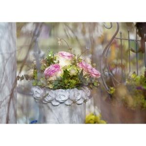 Doppelkarte Art Bula, 122x175 mm, Blumen, Blanko