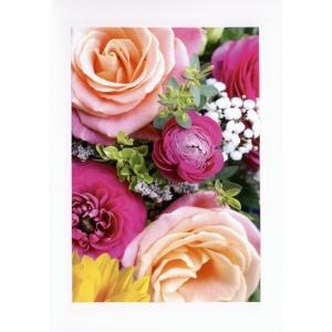 Doppelkarte ABC 45458, A5, Blumen, blanko