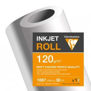 Inkjet Plotterpapier Clairefontaine 2609C, 1067 mmx30 m