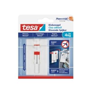 Verstellbarer Klebenagel Tesa 77767, Fliese, Metall, 4 kg, 2 Stück