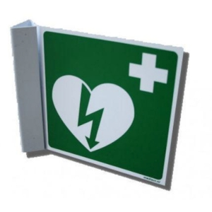 Winkelschild für Defibrillator, 17,8x20,3 cm