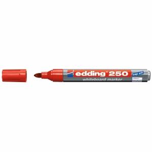 Whiteboard Marker Edding 250, Rundspitze, Strichbreite 1,5-3 mm, rot