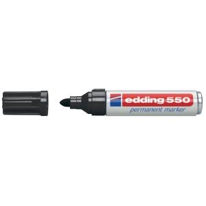Permanent Marker Edding 550, Rundspitze, Strichbreite 3-4 mm, schwarz