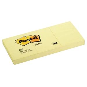 Haftnotizen Post-it 653E 51x38 mm, 100 Blatt, gelb, Packung à 12 Stück