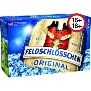 Feldschlösschen Bier Original, hell, 33 cl, Packung à 10 Flaschen