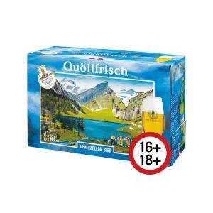 Appenzeller Quöllfrisch Bier, hell, 33 cl, Packung à 10 Flaschen