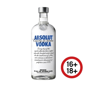 Absolut Vodka, Flasche à 50 cl