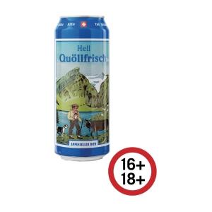 Appenzeller Quöllfrisch Bier, hell, 50 cl, Packung à 24 Dosen