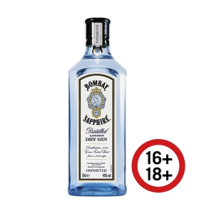 Bombay Sapphire Dry Gin, Flasche à 70 cl