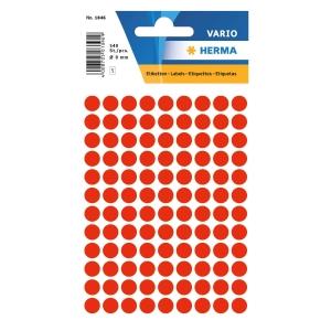 Vielzweck Etiketten HERMA 1846, 8 mm, rund, leuchtrot, Packung à 540 Stück