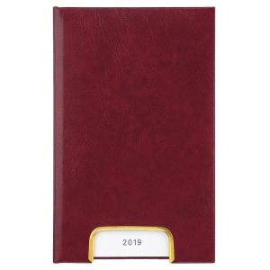 Taschenplaner Biella Disponent 807401, 1 Tag pro Seite, Kunstleder, rot