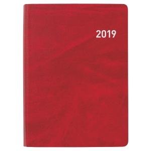 Taschenplaner Biella Memento 825401, 1 Woche auf 2 Seiten, rot